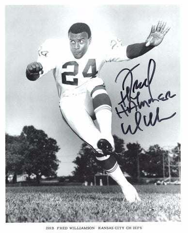 Autographed 8 X 10 Photograph Fred Williamson The Hammer Pro Football COA