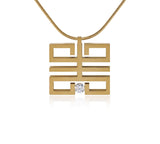 B.Tiff Feliĉo Gold Plated Stainless Steel Pendant Necklace Silver Gold