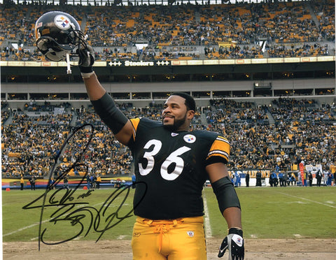 Autographed 8X10 Picture Jerome Bettis Halfback Rams Pittsburgh Steelers of the National Football League NFL COA