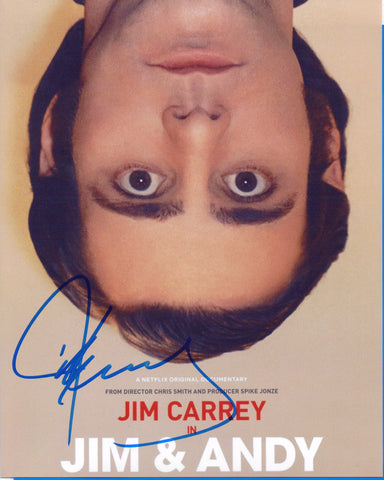 Autographed 8 X 10 Photo Jim Carrey Actor Jim & Andy COA