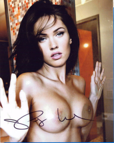 Autographed 8 X 10 Picture Megan Fox - NUDE - Actor The Transformers COA