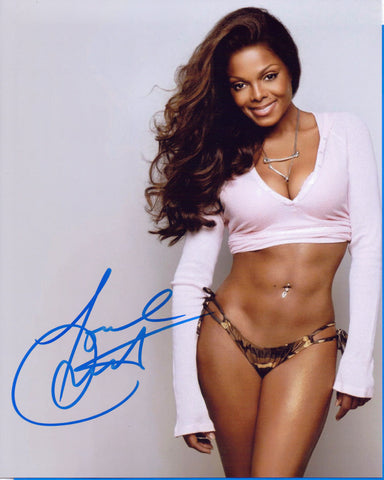 Autographed8 X 10 Photo Janet Jackson Singer Actor COA