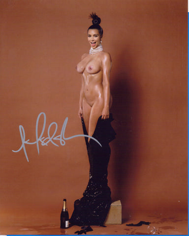 Kim Kardashian - NUDE - Reality Television Personality 8 X 10 Autographed Picture COA