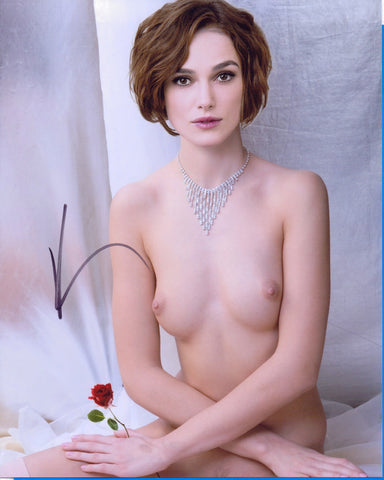 Keira Knightley Actress - NUDE - 8 X 10 Autographed Picture COA