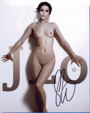 Jennifer Lopez - NUDE - Singer Actress Dancer 8 X 10 Autographed Picture COA