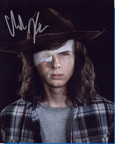 Autographed 8X10 Photo Chandler Riggs Actor Carl Grimes on The Walking Dead COA