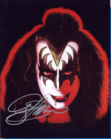 Autographed 8X10 Photo Gene Simmons Musician Singer Songwriter Demon Kiss COA
