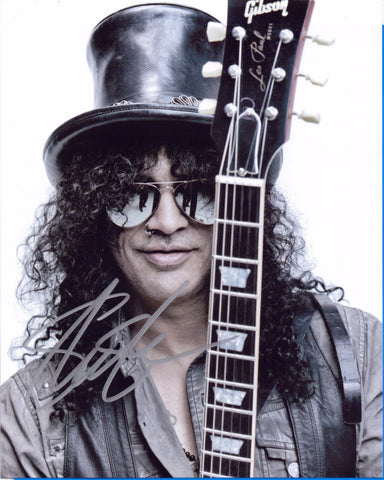Autographed 8 X 10 Picture Slash Musician Songwriter Guns N' Roses COA