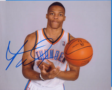 Autographed 8X10 Picture Russell Westbrook III NBA MVP Oklahoma City Thunder COA