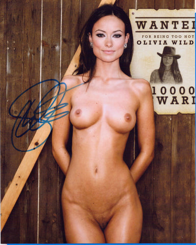 Autographed 8 X 10 -NUDE - Picture Olivia Wilde Actress Model Producer Director COA