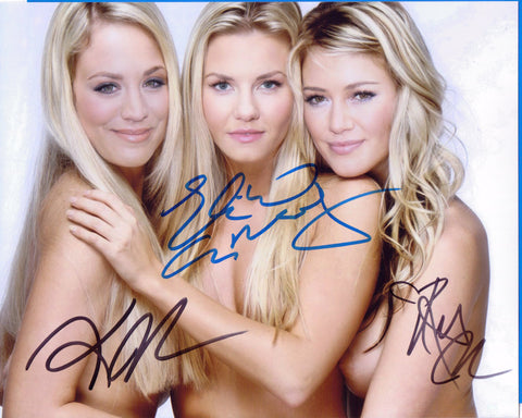 Autographed 8 x 10 Picture - NUDE - Kaley Cuoco Elisha Cuthbert Hilary Duff Actresses  COA