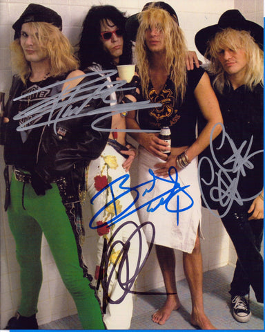 Autographed 8 X 10 Photo Poison Rock Band sign by all 4 COA
