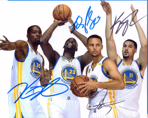 Autographed 8 X 10 Photo Steph Curry Kevin Durant Draymond Green Klay Thompson Golden State Warriors COA