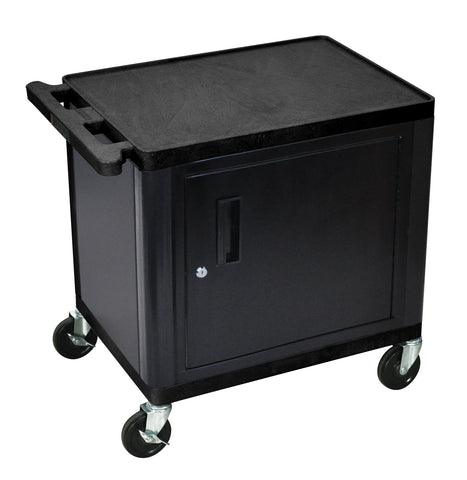 Luxor Endura audio/video 2 shelf cart with cabinet