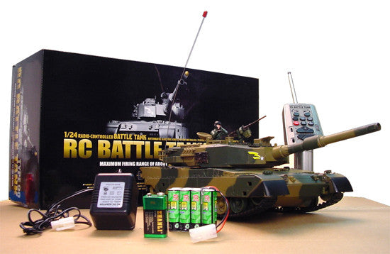 1/24 DEFENSE FORCE TYPE 90 Radio Remote-Control R/C Airsoft Battle Tank