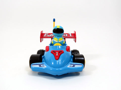"4"" Cartoon R/C Formula Race Car Toy for Toddlers (Blue)"