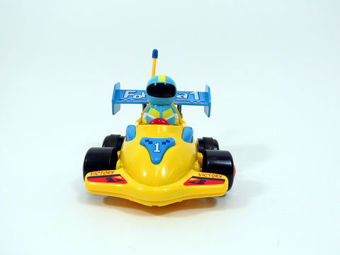 "4"" Cartoon R/C Formula Race Car Toy for Toddlers (Yellow)"