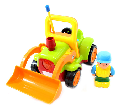 "4"" Cartoon R/C Construction Truck Toy for Toddlers (Green)"