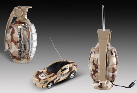 "2.7"" Mini RC Camouflage Grenade Car (Brown)"