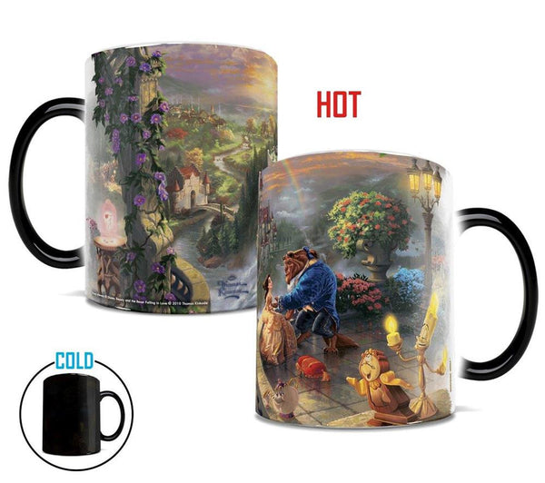 Thomas Kinkade Beauty and the Beast Falling in Love Morphing Mugs™ Heat-Sensitive Mug