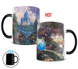 Thomas Kinkade Disney's (Cinderella Wishes Upon A Dream) Morphing Mugs Heat-Sensitive Mug