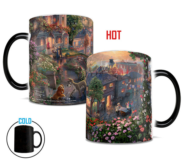Thomas Kinkade Lady and the Tramp Morphing Mugs™ Heat-Sensitive Mug