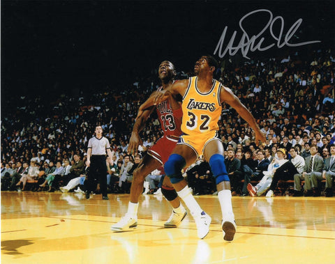 Autographed 8X10 Picture Magic Johnson Point Guard Lakers COA