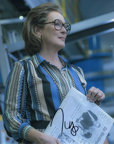 Autographed 8 X 10 Picture Meryl Streep Actress The Post COA