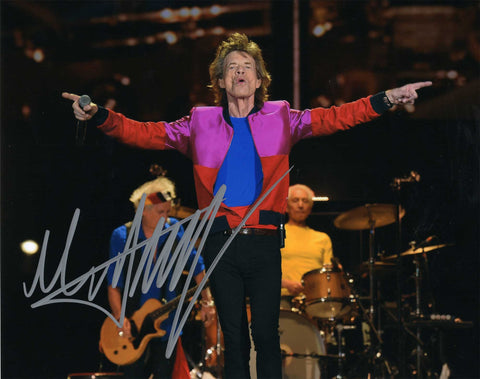 Autographed 8 X 10 Photograph Mick Jagger Singer-Songwriter Rolling Stones COA