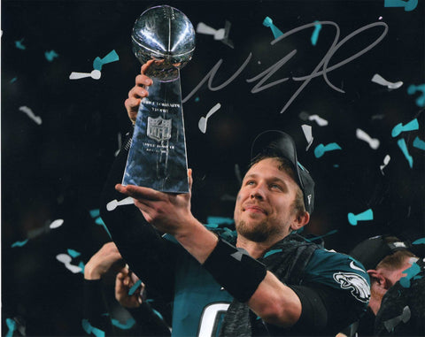 Autographed 8X10 Photograph Nick Foles Quarterback Philadelphia Eagles of the National Football League NFL COA
