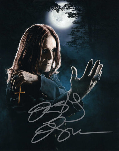 Autographed 8 X 10 Picture Ozzy Osbourne Godfather of Heavy Metal COA