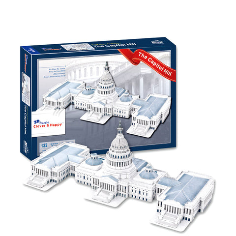 The Capitol Hill Washington USA 3D Puzzle (132 pcs)