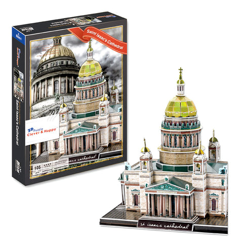 Saint Isaacs Cathedral 3D Puzzle. St. Petersburg Russia (105 pcs)