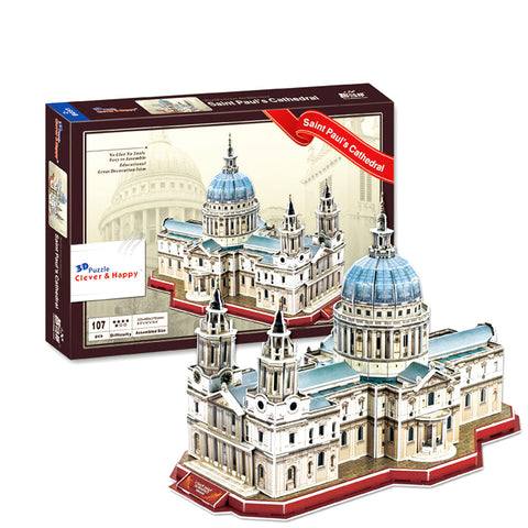 Saint Paul's Cathedral - London 3D Puzzle (107 Pieces)
