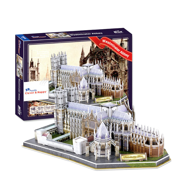Westminster Abbey 3D Puzzle with Book (145 Pieces)