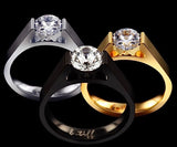 BTiff Brighter than Diamond .75Ct Round Tension Set Solitaire Engagement Ring Sizes 4-10