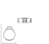 B.Tiff Signity Star Brighter than Diamond Tension Set Princess Cut 1 Ct Solitaire Ring