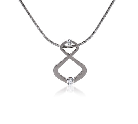 B.Tiff Infinite Stainless Steel Pendant Necklace