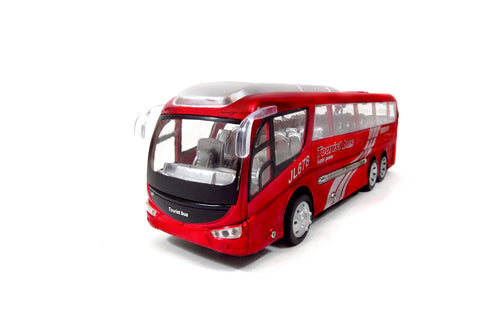 Ultimate Passenger Tourist Vacation Electric RC Bus 1:48 RTR (Red)