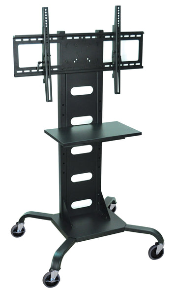 Luxor mobile black flat panel tv stand & mount