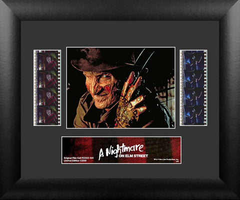 A Nightmare On Elm Street S4 Horror Double Film Cell USFC5513 Numbered Limited Edition COA