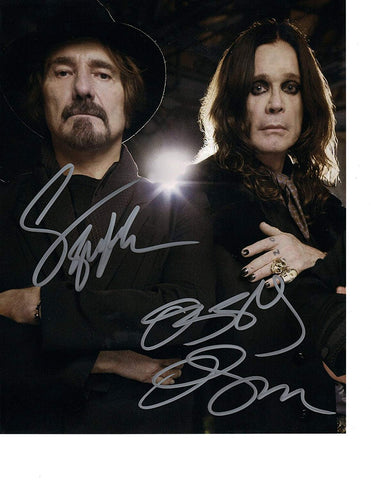Signed Ozzy Osbourne Geezer Butler Black Sabbath 8x10 Photo Autographed COA