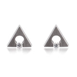 B.Tiff Supera Stainless Steel Earrings Diamond Alternative