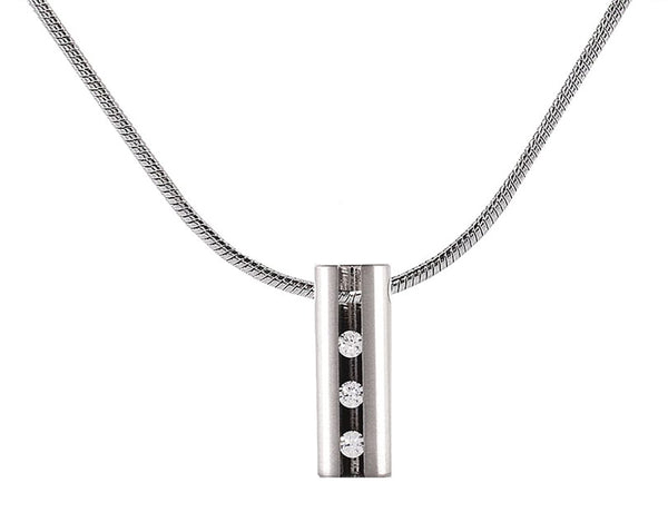 B.Tiff Hollowed Short Stick Stainless Steel Pendant