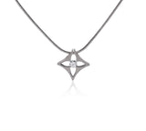 B.Tiff Floro Stainless Steel Pendant Necklace Silver Gold