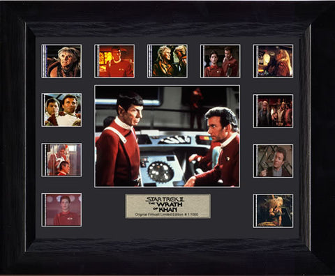 Star Trek II The Wrath of Khan Mini Montage USFC2145 Filmcell 13 X 11 Limited Edition COA