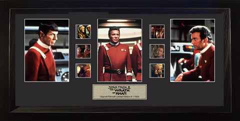 Star Trek II The Wrath of Khan Trio USFC2146 20 X 11 Film Cell Limited Edition COA