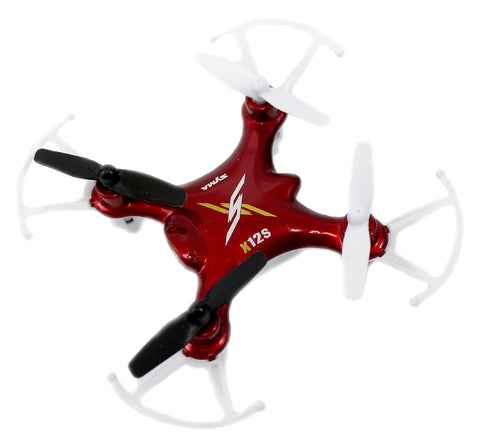 X12S Nano 6-Axis Gyro 4CH RC Quadcopter (Red)
