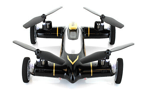 X9 2.4GHz 4CH 6 Axis Flying Car Quadcopter (Black)