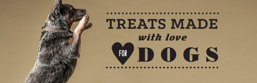 Treats made with love for dogs